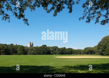 Sept. 8, 2008 - New York, New York, U.S - A view of the Great Lawn located in New York's Central Park. The park - Stock Photo