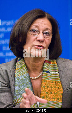 Member of European Parliament (MEP) Ewa Klamt attends  a news conference in European Parliament in Strasbourg , - Stock Photo