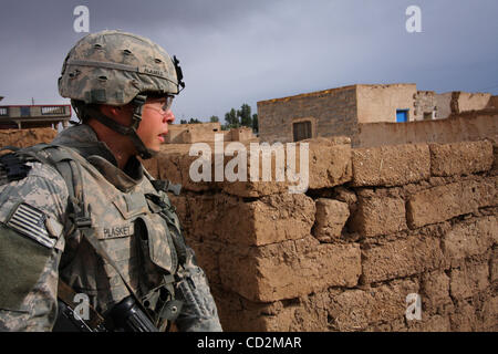 Mar 13, 2008 - Taji district, Baghdad, Iraq - Soldiers of Alpha Company, 1st Battalion, 27th Infantry Regiment of - Stock Photo