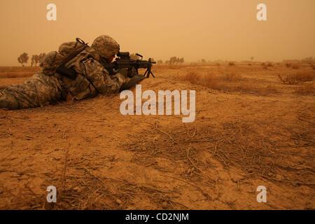 Mar 15, 2008 - Abu Assef, Taji, Iraq - Soldiers of Alpha Company, 1st Battalion 27th Infantry Regiment of 2nd Stryker - Stock Photo