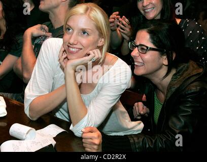 Mar 18, 2008 - San Diego, California, USA - SARAH MILLS, left, and friend PATRICIA KHOURY, at right, watch Carly - Stock Photo