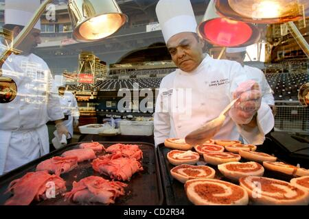 Mar 18, 2008 - San Diego, California, USA - During the preview of the new food offerings for the upcoming Padres - Stock Photo