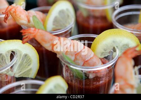 Mar 18, 2008 - San Diego, California, USA - Detail view of a Jumbo Tequila Shrimp Shooter during the preview of - Stock Photo
