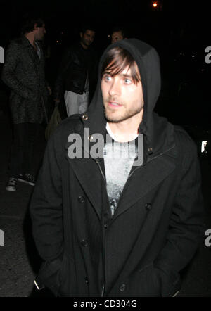 Mar. 30, 2008 - New York, New York, U.S. - .JARED LETO.K56809RM.CELEBRITIES OUT AND ABOUT NEW YORK New York 03-29 - Stock Photo