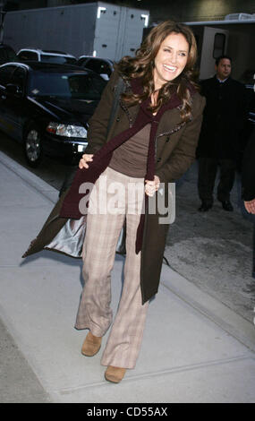 Nov 11, 2008 - New York, NY, USA - Actress AMY BRENNEMAN arrives for her appearance on 'The Late Show With David - Stock Photo