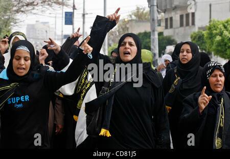 Mar 29, 2008 - Gaza City, Gaza Strip - Palestinian supporters of the Islamic Jihad movement attend a rally in Gaza - Stock Photo