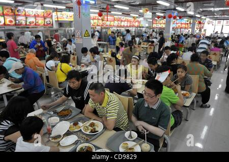 Jun 25, 2010 - Shanghai, China - Cafeteria of the exhibition centre at the World Expo 2010 in Shanghai. (Credit - Stock Photo