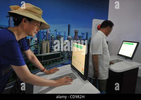 Jun 25, 2010 - Shanghai, China - Visitors in Russian pavilion at the World Expo 2010 in Shanghai. (Credit Image: - Stock Photo
