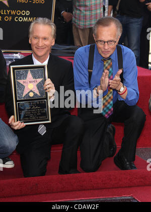 Sep 14, 2010 - Hollywoodwood, California, USA - LARRY KING joins BILL MAHER Receives Star on Walk of Fame. (Credit - Stock Photo