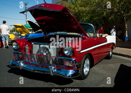 Sept. 26, 2010 - Henderson, Nevada, United States of America - Some of the beautiful vehicles out at the Super Run - Stock Photo