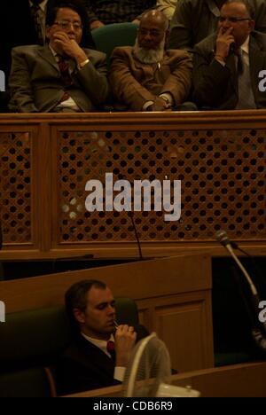 Sept 30, 2010 - Kashmir, Srinagar, India - Jammu and Kashmir Chief Minister OMAR ABDULLAH sleeping in the legislative - Stock Photo
