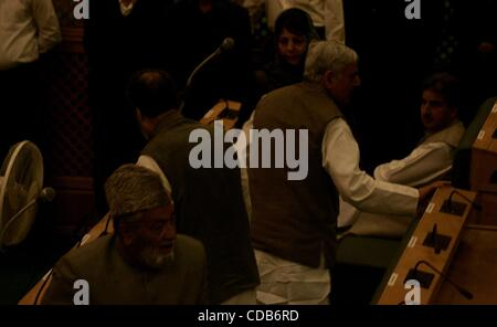 Sept 30, 2010 - Kashmir, Srinagar, India - Former Chief Minister of Jammu and Kashmir Mufti MOHAMMAD SAYEED with - Stock Photo