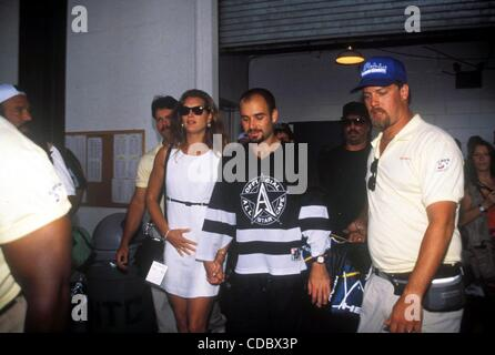 K2474AR.U.S. OPEN TENNIS 1995.BROOKE SHIELDS AND ANDRE AGASSI.    /  PHOTOS(Credit Image: © Andrea Renault/Globe - Stock Photo