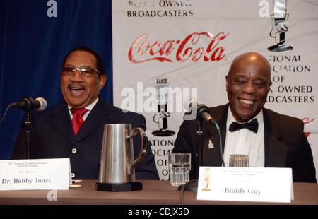 Mar 04, 2011 - Washington, District of Columbia, U.S. - Dr. BOBBY JONES, and BUDDY GUY, at the National Association - Stock Photo