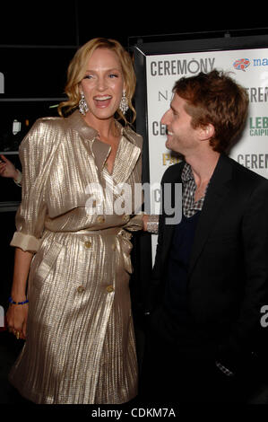 Mar. 22, 2011 - Hollywood, California, U.S. - Uma Thurman and Max Winkler during the premiere of the new movie from - Stock Photo