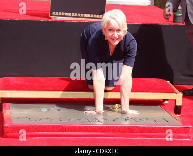 Mar. 27, 2011 - Hollywood, California, U.S. - Helen Mirren Hand & Foot Print Ceremony at Grauman's Chinese theater. - Stock Photo