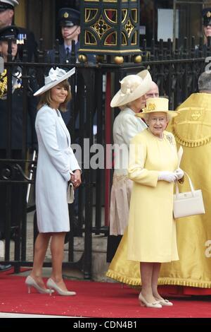 April 29, 2011 - Londres, Spain - Carole Middleton, Prince Philip, Duke of Edinburgh, Queen Elizabeth II and Camilla, - Stock Photo