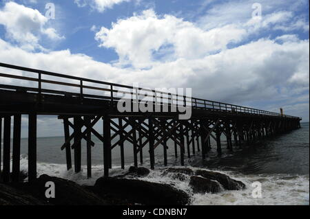 The Pier at Gaviota State Beach Park stretches out into the Pacific Ocean in Gaviota,CA. on May19, 2011.(Credit - Stock Photo