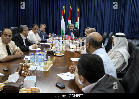 Jun 26, 2011 - Gaza City, Gaza Strip - Palestinian Prime Minister in Gaza strip ISMAIL HANIYEH meets with the universities - Stock Photo