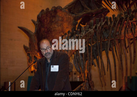 July 07, 2011 - Los Angeles, California, U.S. - Paleontologist Dr. LUIS CHIAPPE at the press preview of the Dinosaur Hall, Natural History Museum of Los Angeles County, Exposition Park. (Credit Image: © Kayte Deioma/ZUMAPRESS.com)