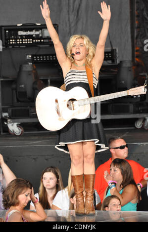 Jul 8, 2011 - Raleigh, North Carolina, USA   Singer KIMBERLY PERRY of the country music group The Band Perry performing - Stock Photo