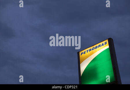 Jul 20, 2011 - Buenos Aires, Argentina - A neon sign with the Petrobras logo. The Democratic Republic of Congo is - Stock Photo