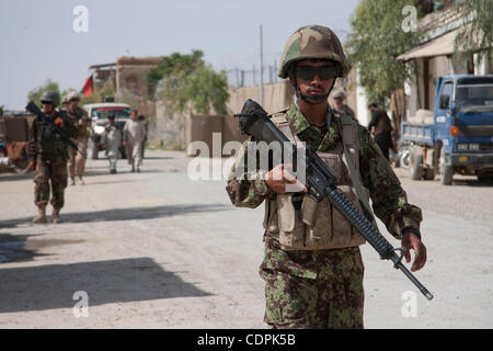 Apr 27, 2011 - Town of Naw Zad, Naw Zad district, Helmand, Afghanistan - An ANA soldier from 4th Company, 3rd Kandak, - Stock Photo