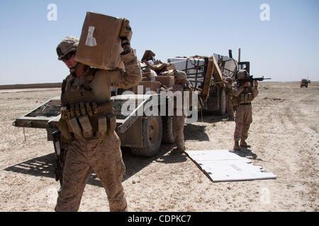 May 02, 2011 - Naw Zad, Helmand, Afghanistan -U.S. Marines of Lima Company, 3rd Battalion of 2nd Marine Regiment - Stock Photo