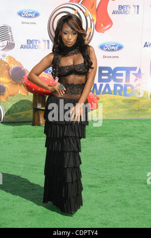 June 26, 2011 - Los Angeles, California, U.S. - Porscha Coleman Attending The 2011 BET Awards Red Carpet Arrivals - Stock Photo