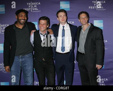Apr. 21, 2011 - New York, New York, U.S. - JESSE L. MARTIN, MARK KASSEN, CHRIS EVANS AND ADAM KASSEN arrive for - Stock Photo