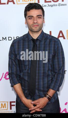 June 17, 2011 - Los Angeles, California, U.S. - Oscar Isaac.LA Film Fest Premiere of ''DRIVE''  held at The Regal - Stock Photo