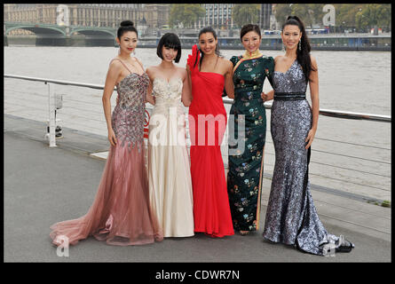 Oct. 31, 2011 - London, United Kingdom - Photocall at the London Eye for the 60th Birthday of the Miss World contest - Stock Photo