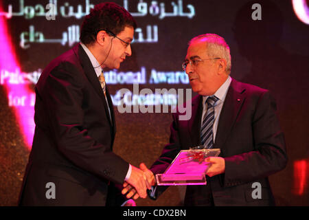 Oct. 24, 2011 - Nablus, West Bank, Palestinian Territory - Palestinian Prime Minister Salam Fayyad Recognizes the - Stock Photo