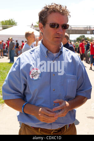 AMES, IA - 13 AUG 11 - US Senator Rand Paul (R-TN), son of Presidential candidate Ron Paul, at the 2011 Ames Straw - Stock Photo