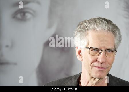 Nov. 2, 2011 - Madrid, Spain - Director David Cronenberg attends 'A Dangerous Method' photocall at Santo Mauro Hotel. - Stock Photo
