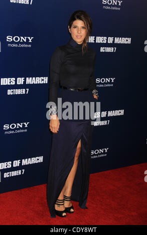 Oct. 5, 2011 - New York, NY, USA - Marisa Tomei at the 'The Ides of March' NYC Premiere, which took place at the - Stock Photo