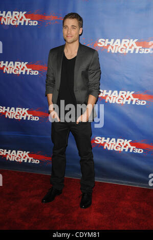 Sept. 1, 2011 - Los Angeles, California, U.S. - Dustin Milligan Attending the Los Angeles cast & crew screening - Stock Photo