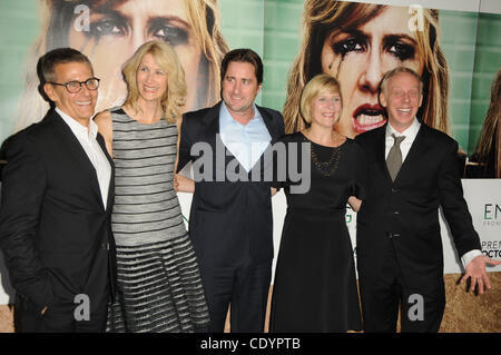 Oct. 6, 2011 - Los Angeles, California, U.S. - Laura Dern, Luke Wilson, Mike White attending the Los Angeles Premiere - Stock Photo