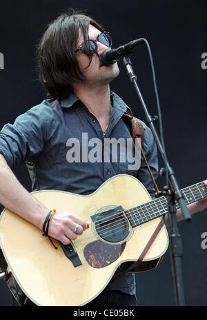 Aug 5, 2011 - Chicago, Illinois; USA - Musician CONOR OBERST of the band Bright Eyes performs live as part of the - Stock Photo