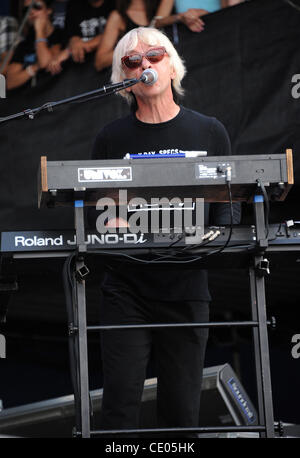 Aug 7, 2011 - Chicago, Illinois; USA - Keyboardist GREG HAWKES of The Cars performs live as part of the 20th Anniversary - Stock Photo