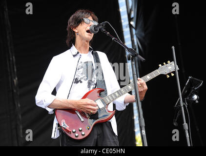 Aug 7, 2011 - Chicago, Illinois; USA - Musician RICK OCASEK of The Cars performs live as part of the 20th Anniversary - Stock Photo