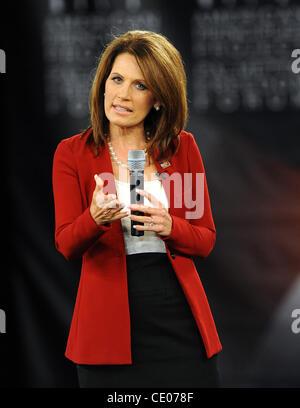 Sept. 5, 2011 - Columbia, South Carolina, U.S. - Congresswoman MICHELE BACHMANN takes part in the American Principles - Stock Photo