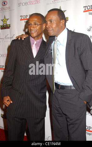 Sept. 24, 2011 - Hollywood, California, U.S. - Sugar Ray Leonard And Tommy Davidson  attend the Brent Shapiro .Foundation - Stock Photo