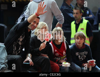 Kai Pflaume at a basketball match between FC Bayern and ETB Essen at Olymiahalle hall. Munich, Germany - 06.11.2010 - Stock Photo