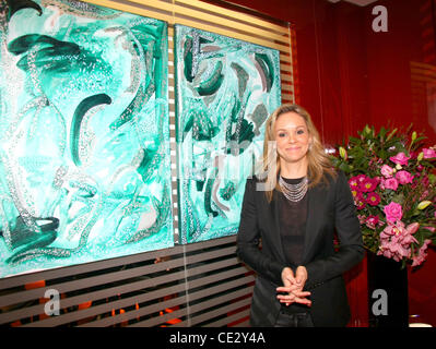 Marie Guerlain attends her private art exhibition, held at Adler on New Bond Street London, England - 10.02.11 - Stock Photo