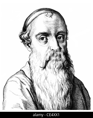 Menno Simons or Simonis, 1496 - 1561, a Dutch-Frisian theologian and Anabaptist - Stock Photo