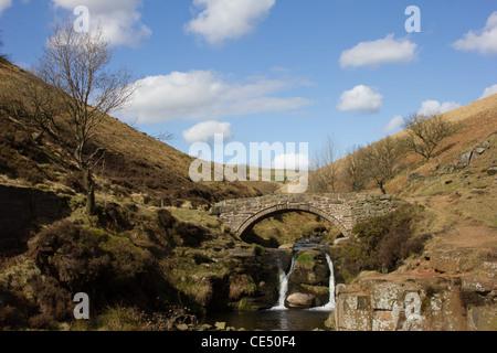 Three Shires Head - Packhorse Bridge - Stock Photo
