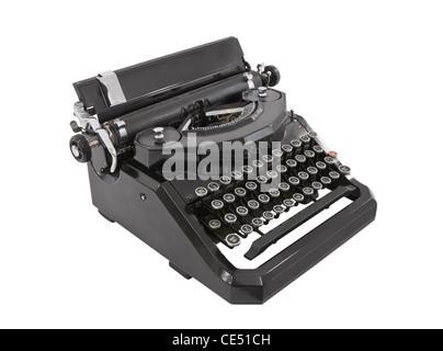 Old typewriter isolated on white. - Stock Photo