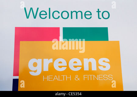 Welcome to Greens Health and Fitness Centre, Coldhams Lane, Cambridge, England, UK - Stock Photo
