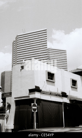 Travel Photography - Architecture in Singapore in Asia in Southeast Asia Far East. Building Modern City - Stock Photo